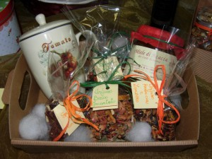Confeioni regalo infusi miele tisaniera
